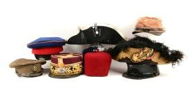 Lot Of 8: Reproduction & Original Military Hats.