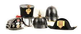 Lot Of 5: Original & Reproduction Military Caps.