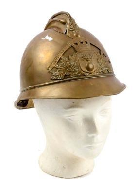 French Sapeurs Brass Fire Helmet.