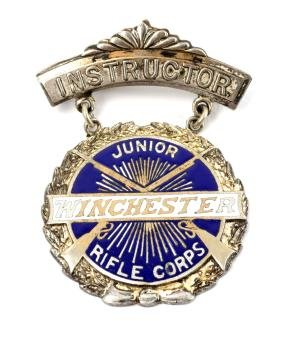 Scarce Winchester Junior Rifle Corps Instructor Medal.
