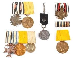 Lot of 6:  German Imperial Metal Bars.
