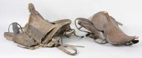 Lot Of 2: Military Saddles.