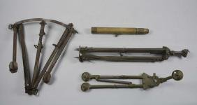 Lot Of 3:  Brass World War I Telescope with Stand & Two