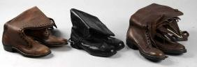 Lot of 3:  Pairs of Reproduction Military Boots.