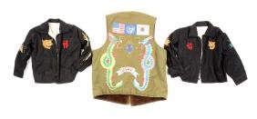Lot Of 3: Hand Painted Korean and Vietnamese Vests.