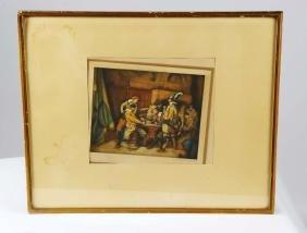 "Lot of 2 military prints:  Albrecht Adam's ""Battle of"