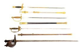 Lot Of 4: 3 American Swords and a Reproduction Sword.