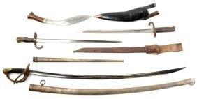 Lot Of: French Cavalry Saber & Bayonets.