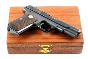 (C) Cased Colt Model 1903 Semi-Automatic Pistol.