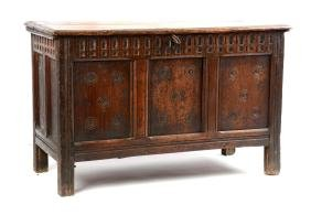 Early English Pine Blanket Chest.