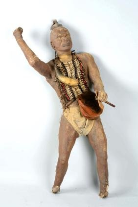 Papier Mache Indian Statue from Willow Grove Amusement