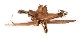 Lot Of 3: Jemez Pueblo Apache Indian Bow, Arrows and
