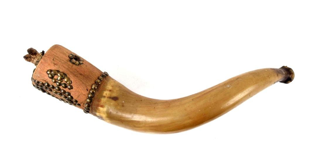 Powder Horn with Whale Effigy, Likely Native American