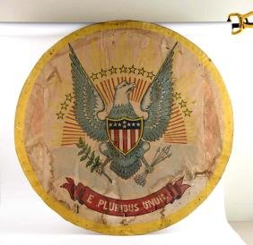 WWII Presidential Seal Fabric Sign.