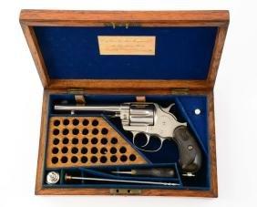 (A) London Oak Cased Colt Model 1878 Nickel Fat Grip