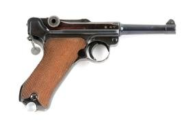 (C) 1934 Code 42 Dated Luger Semi-Automatic Pistol.