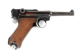 (C) 1939 Dated S/42 Luger Semi-Automatic Pistol.