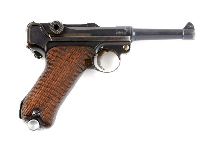 (C) Simson & Co. Suhl Luger Semi-Automatic Pistol.