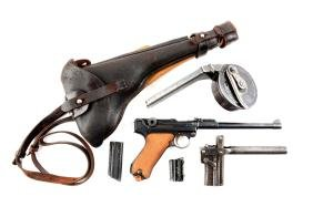 (C) Model 1914 DWM Artillery Luger With All Accessories