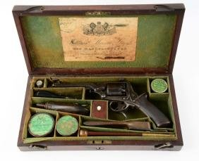 (A) Fine English Dealer Cased Tranter Double Action