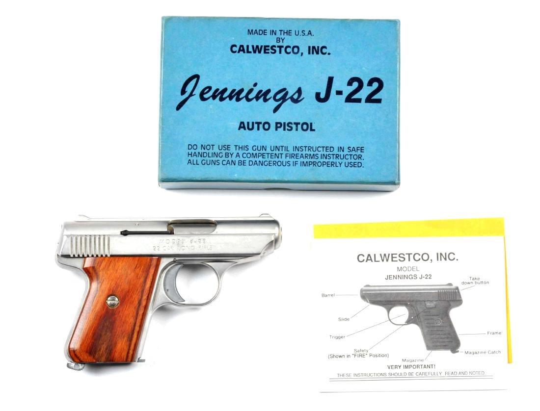 (M) Boxed Jennings .22 Semi-Automatic Pistol.