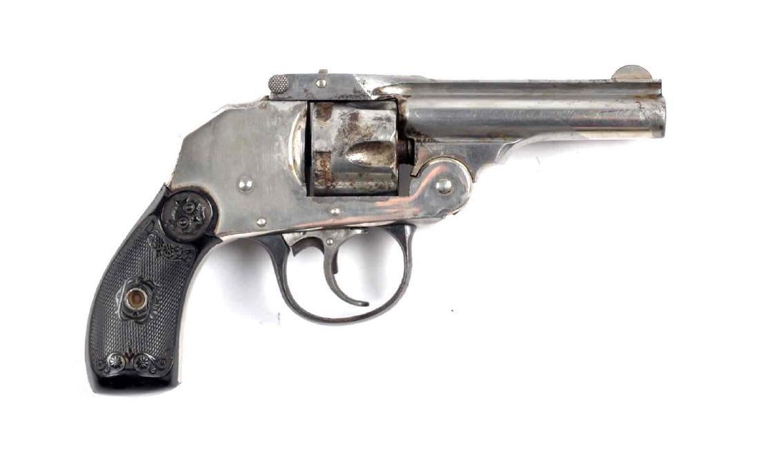 (C) Iver Johnson Top Break Hammerless Revolver.