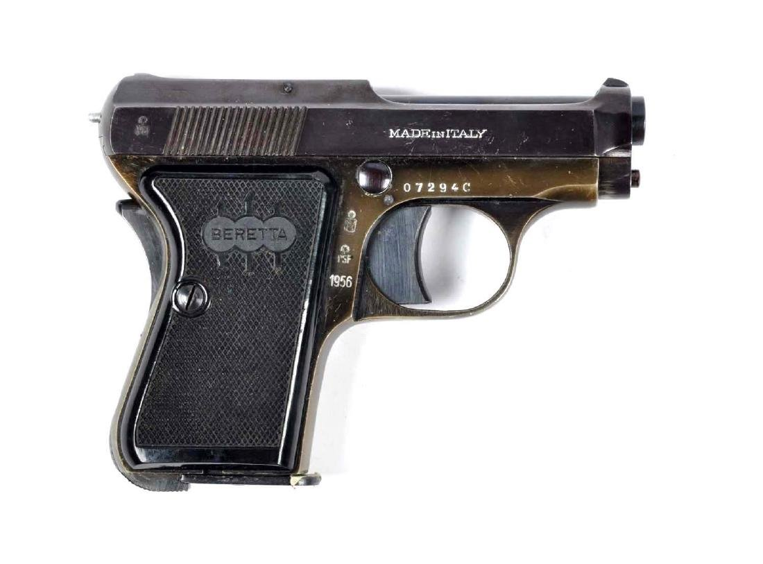 (C) Beretta Model 1956 Semi-Auto Pocket Pistol.