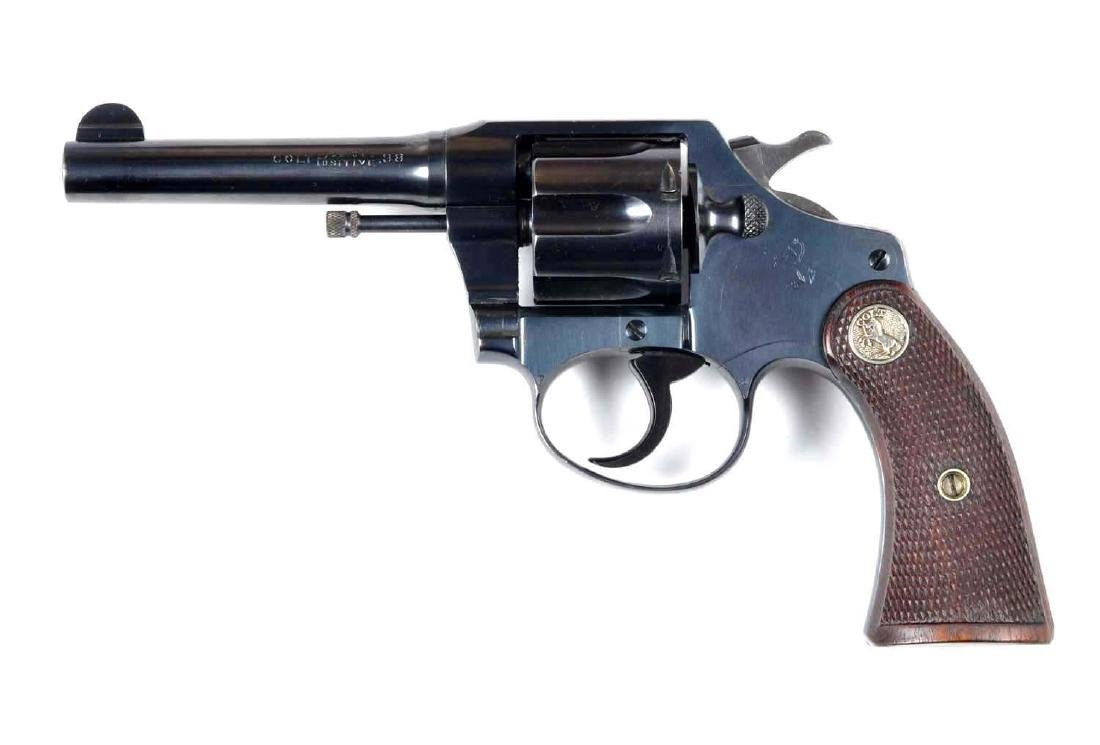 (C) Fine Colt Police Positive Revolver.