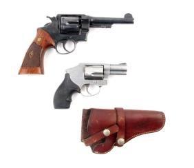 (C) Lot Of 2: S&W Revolvers.