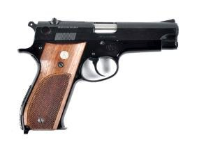 (C) Near New S&W Model 39 Semi Automatic Pistol.