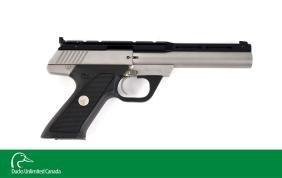 (M) Cased Colt Target Model Semi-Automatic .22 Pistol.