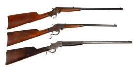 (C) Lot Of 3: Stevens Single Shot Boy's Rifles.