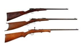 (C) Lot Of 3 Savage & Iver Johnson Bolt Action Rifle