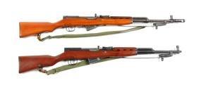 (M) Lot Of 2: SKS Semi-Automatic Rifles.