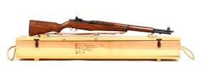 (C) Crated U.S. Model M 1 Garand Semi-Automatic Rifle.