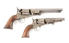 (A) Lot Of 2: Foreign Proofed Percussion Revolvers.