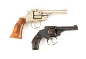 (C) Lot Of 2: Vintage Top Break Revolvers.