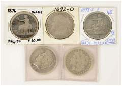 Lot Of 5: Coins.