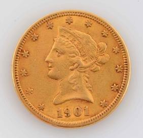 1901 $10 Liberty Gold Coin.