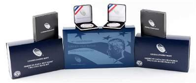 Lot Of 5: American Eagle & Commemorative Sets.