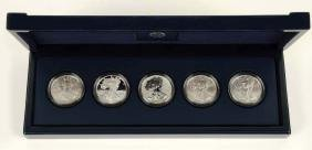 2011 25th Anniversary Silver Dollar American Eagle Set.