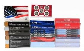 Lot Of 25: U.S. Mint Proof Sets.