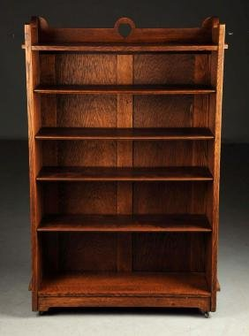 Rare Early Stickley Brothers Open Bookcase No. 197.