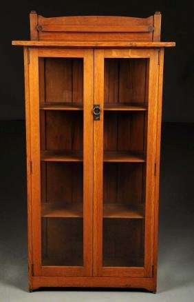 Stickley Brothers Single Door China Cabinet.