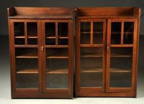 Pair Of Limbert Arts & Crafts Two Door Bookcases No.