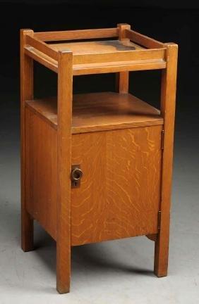 Stickley Bros. Smokers Cabinet No. 2624.
