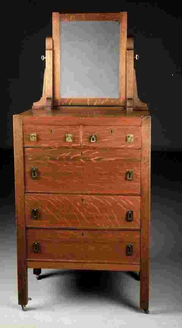 Grand Rapids Auto Auction >> Luce Furniture Co. Grand Rapids Dresser with Mirror.
