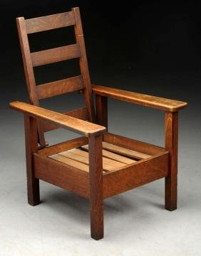Stickley Brothers Child's Morris Chair No. 280-1/2.