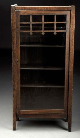Arts & Crafts Mission Single Door Bookcase.