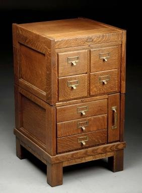 Macey Mission Oak Stacking Filing Cabinet.